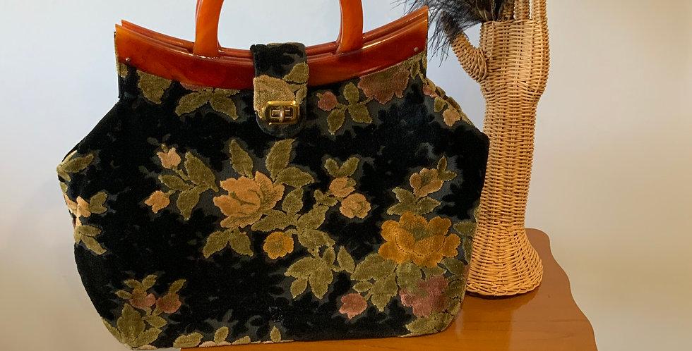 Vintage Bobbi Jerome Handbag with Bakelite Handles