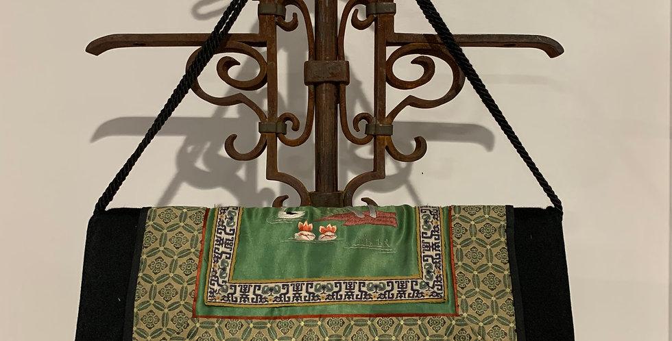 Antique Silk Asian Print Handbag