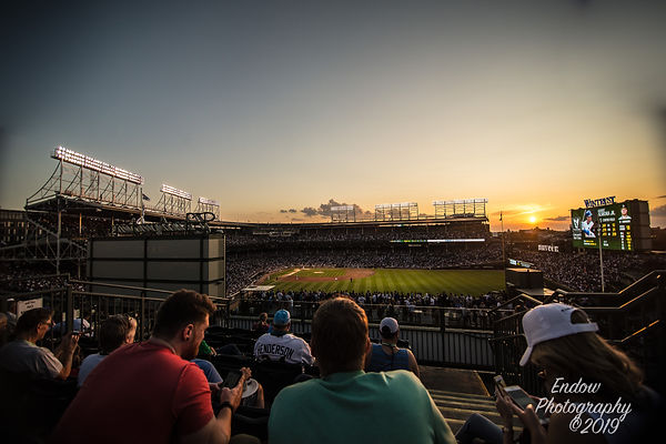 Rooftop Sunset, Wrigley Field.jpg