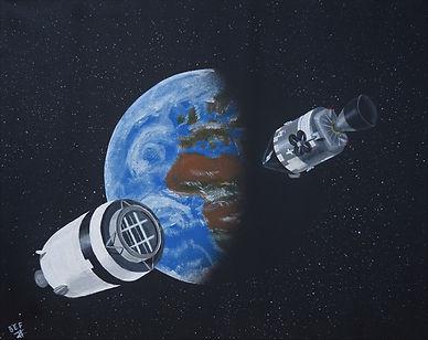 Apollo 8 in Translunar Space