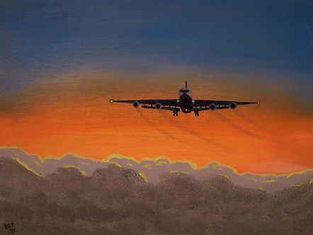 DC-8 On Finals