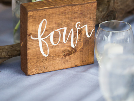 Hand Lettering for OBX Wedding