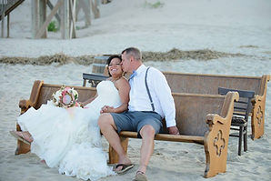 Outer banks nags head wedding pirates cove oceanfront ceremony