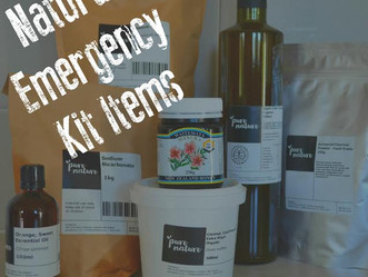 Natural items for your emergency kit.