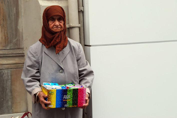 Une femme Vendeur