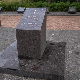 Sodassa kaatuneille koivistolaisille  1939-1944  Muistomerkki pystytetty 2019 joulukuussa Suomen Koivisto-Seura ry:n toimesta.