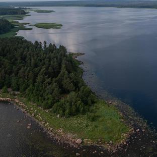 Syyskuu. Humaljoen lahti kuvattuna Koiviston salmesta suunnasta.