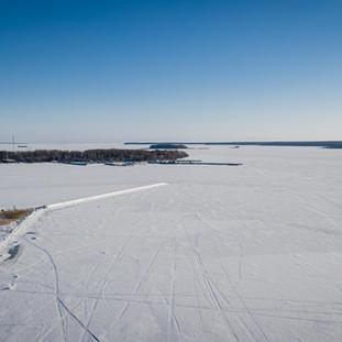 17.2. näkymä kirkkolahdelle, Möllikän satamaan ja Koivusaareen.