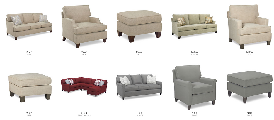 Sofa's, Chairs, Sectionals. Ottomans