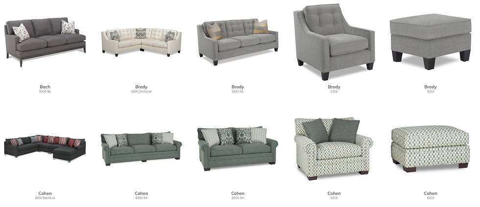 Sofas, Chairs, Ottomans