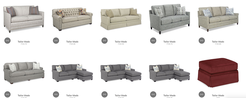 Sofas, Sectionals. Chairs, and Ottomans
