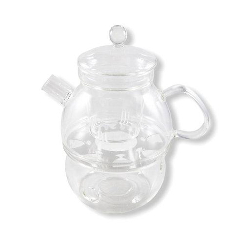 Tetera de Cristal con Tea Warmer