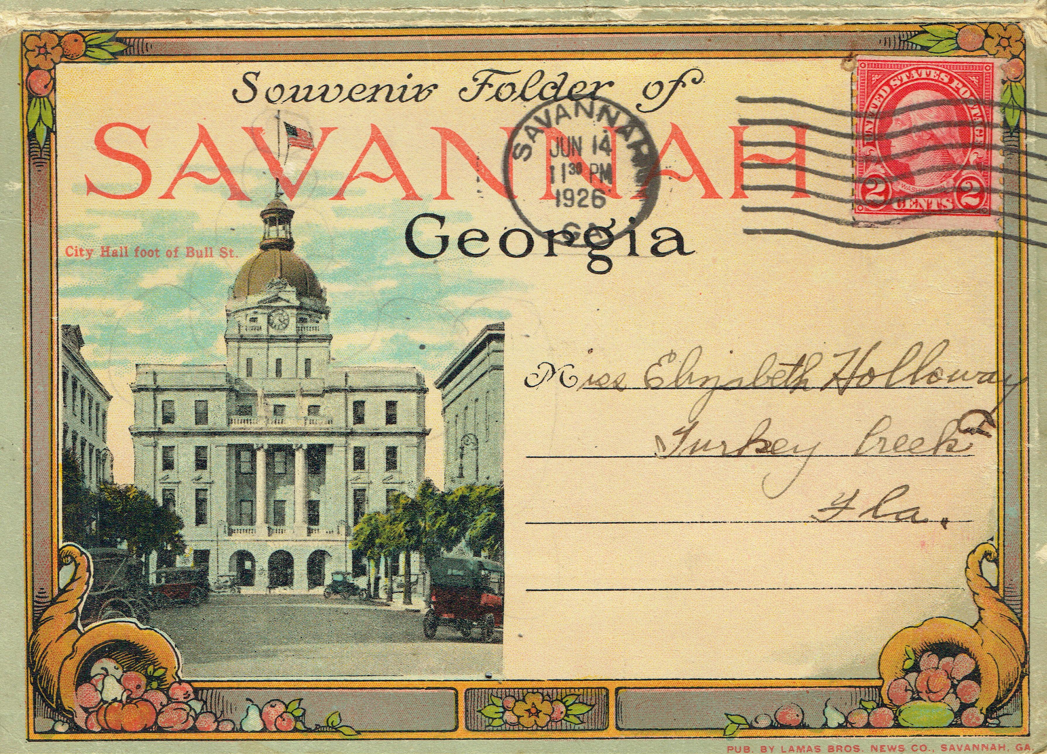 Vintage Savannah Post Cards