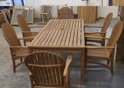 Waxed garden furniture