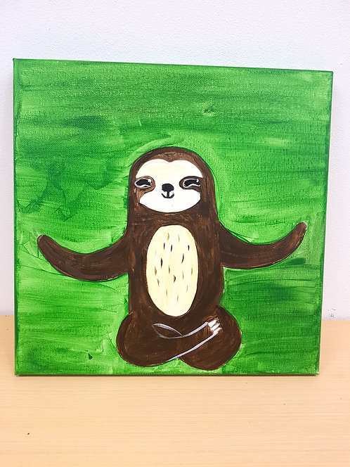 12x12 Sloth Canvas Kit
