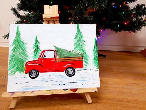 Truck n' Tree Canvas Kit