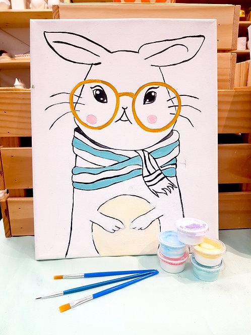 11x14 Bunny Canvas Kit