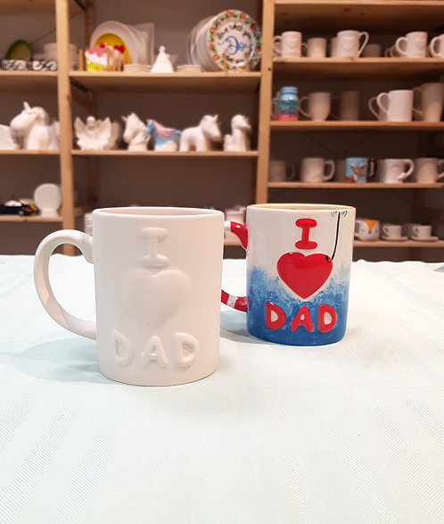 I ♡ Dad Mug