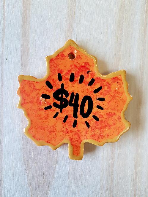 Orange Leaf  $40 Gift Card