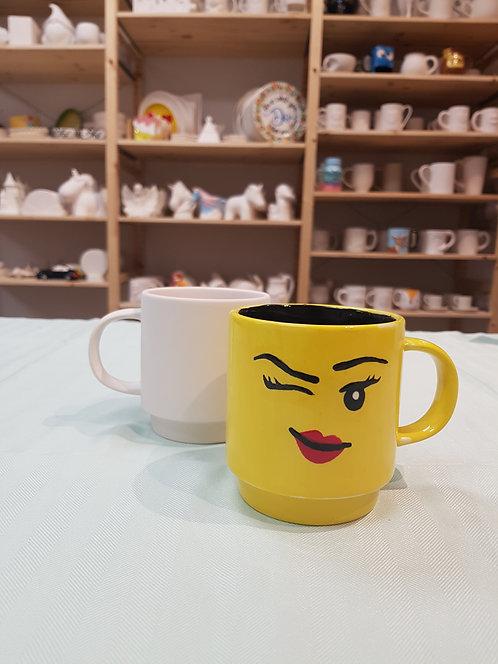 Lego Head Stacking Mug