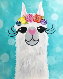 11x14 Llama Face Canvas Kit