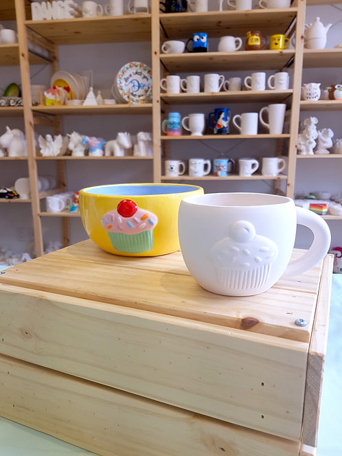 Cupcake Bowl + Mug Combo Pack