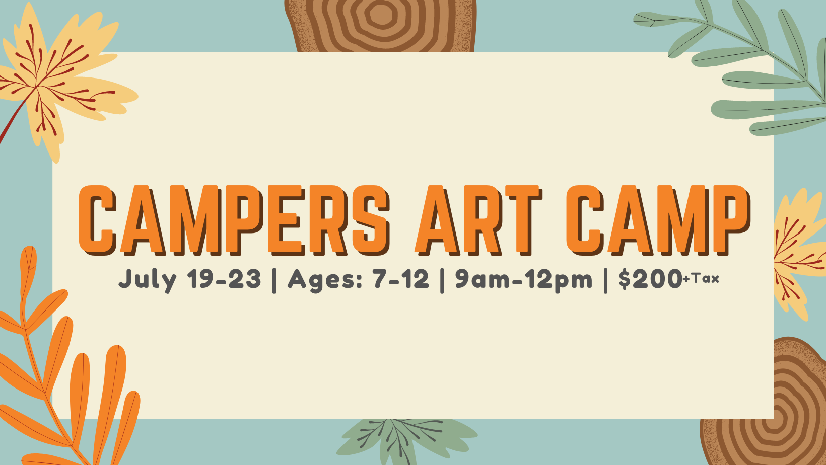 Camper's Art Camp (sold Out)