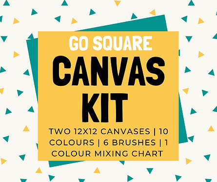 Stenciled Square 12x12 Canvas Kit