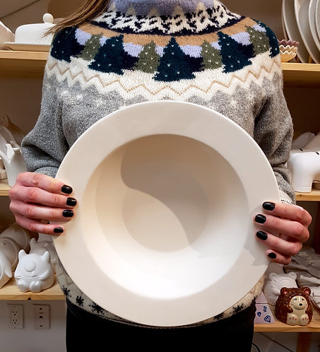 Large rim Salad Bowl