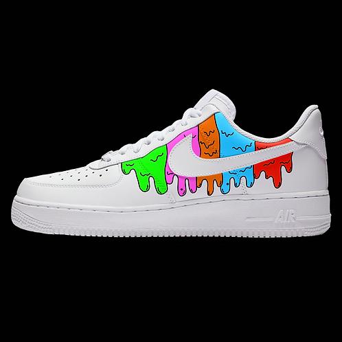 "Custom Nike Air Force 1 Low ""Rainbow Drip"""