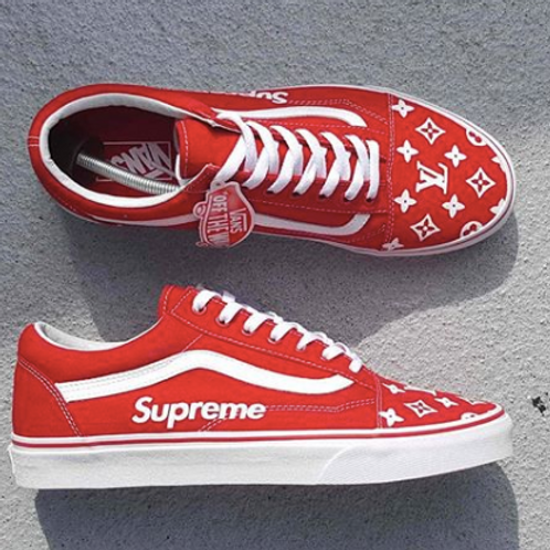 Supreme Hype Old Skool Vans Low (any size)