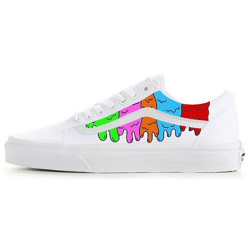 """Custom Vans Old Skool Low """"Rainbow Drip"""""""