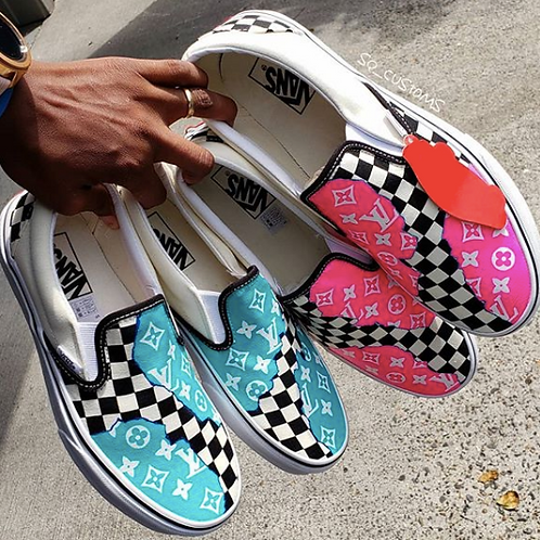 Shredded Hype Checkerboard Vans (Any Size)
