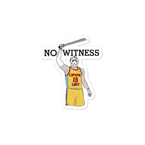 Jason/Lebron Witness Sticker