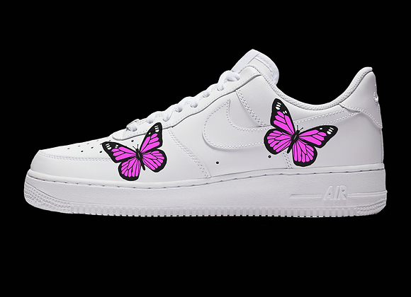 "Custom Nike Air Force 1 Low ""Butter-Fly"""