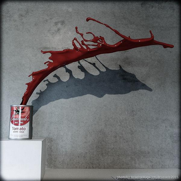 """Tomato Paint Soup"" by Emanuele Niri, 3D Printed Sculpture, 2013."