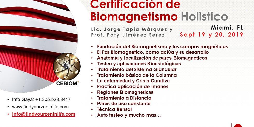 Certificacion de Biomagnetismo Holistico Integral