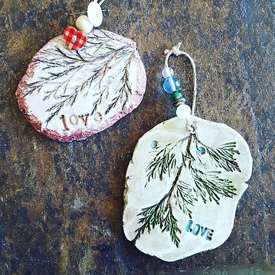 Love Evergreen Ornaments by Jodene Shaw
