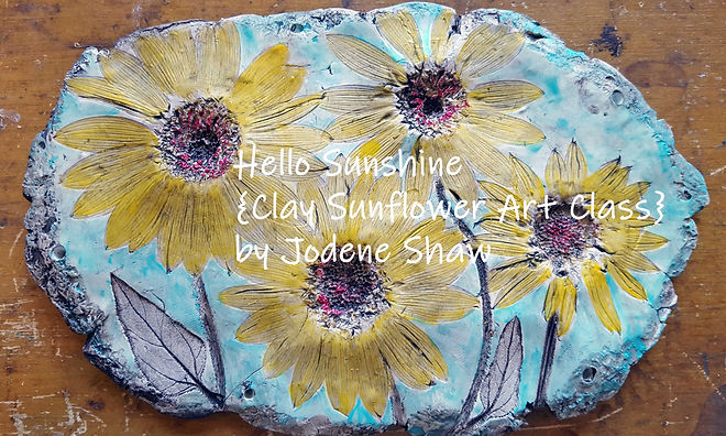 Hello-Sunshine-Clay-Sunflower-Art-Class.
