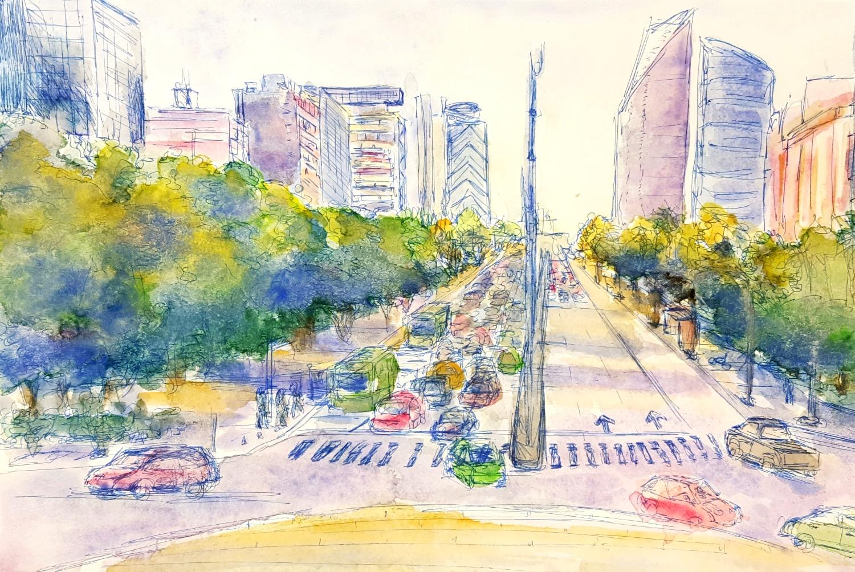 Traffic Circle, Mexico City