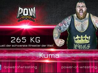 Der aktuell schwerste Wrestler der Welt kommt zu Power of Wrestling Live in Hildesheim!