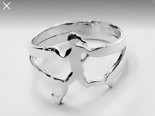 טבעת רצה כסף