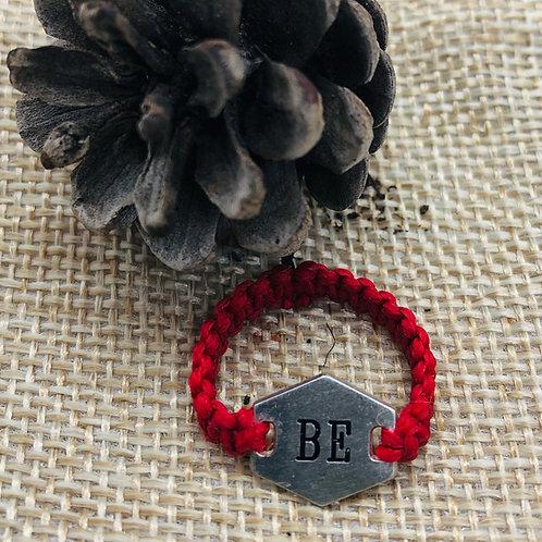 טבעת רקמה BE (believe)