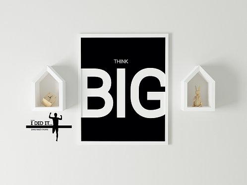 think big - שחור