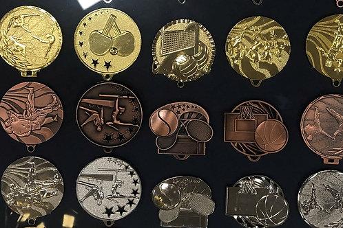 מבחר ענק של מדליות לענפי ספורט