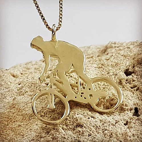 תליון אופניי שטח זהב