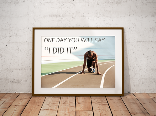 one day you will say