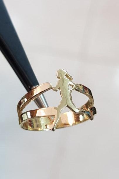 טבעת רצה זהב