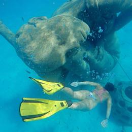 Underwater statues, Nassau Bahamas