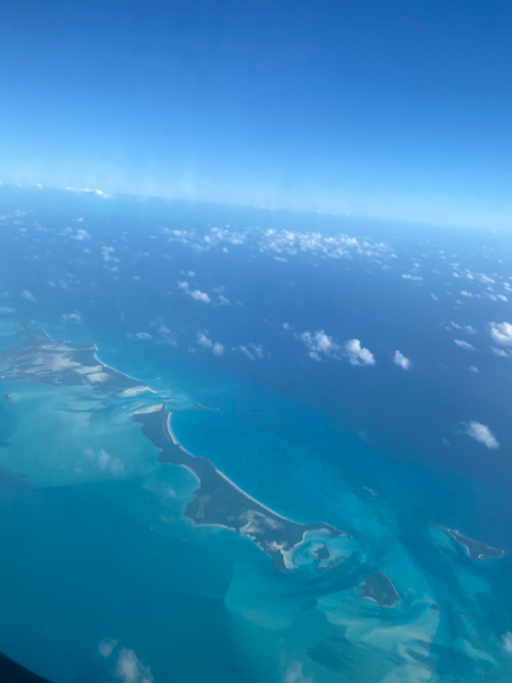 Flying in to Georgetown, Exuma